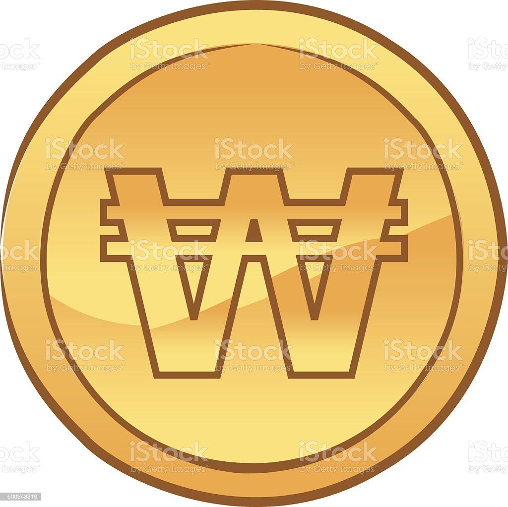 Won coin vector royalty-free stock vector art