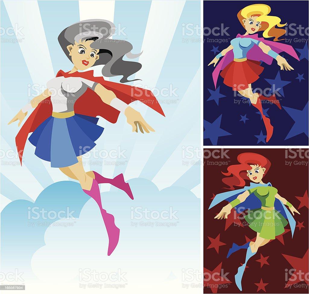 Wonder Lady Super Hero vector art illustration