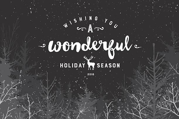 ilustraciones, imágenes clip art, dibujos animados e iconos de stock de maravillosa temporada navideña - festividades y de temporada