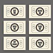 istock Wonderland vector set with labels Eat me, Drink , Open , Not 544576544