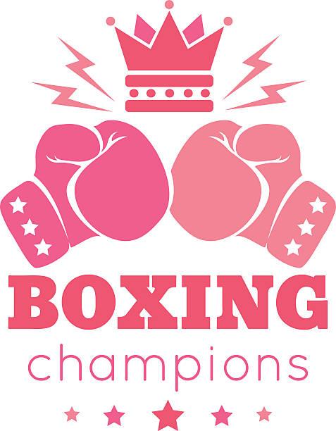 wonen's boxing - boxing gloves stock illustrations, clip art, cartoons, & icons