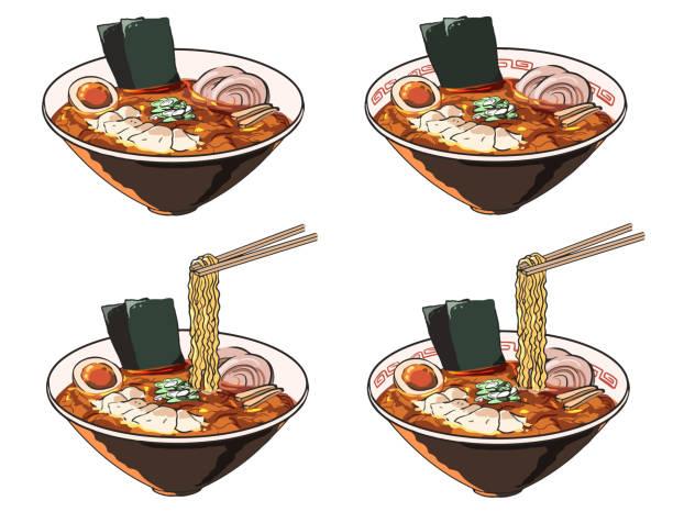 ウォントン麺 ベクターアートイラスト
