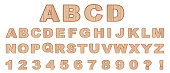 Vector wood Alphabet