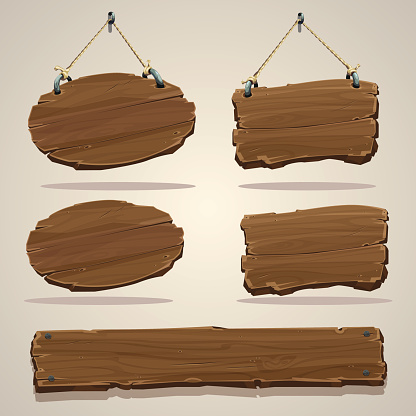 Wood board on the rope
