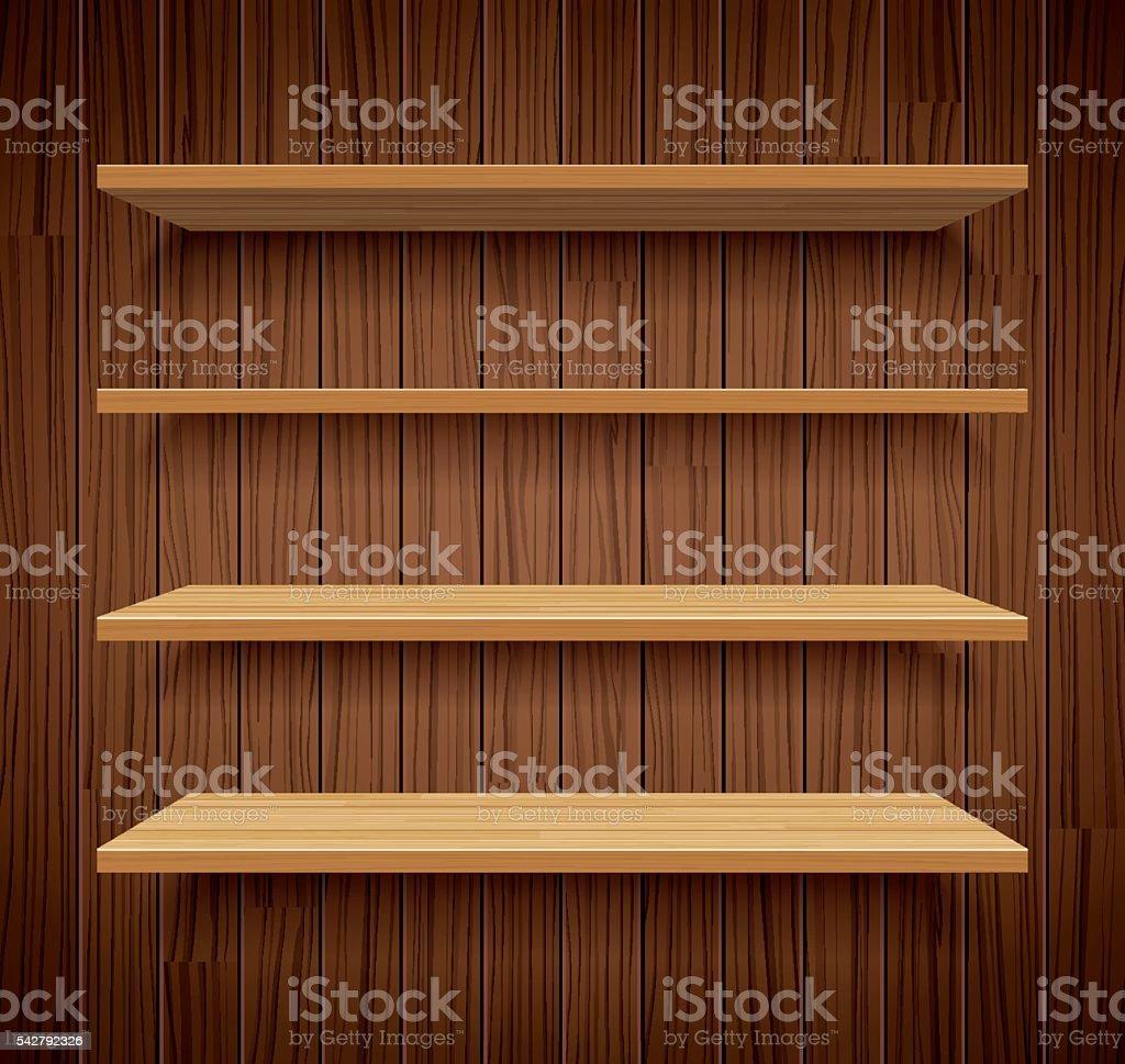 Scaffalature In Legno Per Libri.Scaffali Per Libri In Legno Su Parete Di Legno Marrone Sfondo