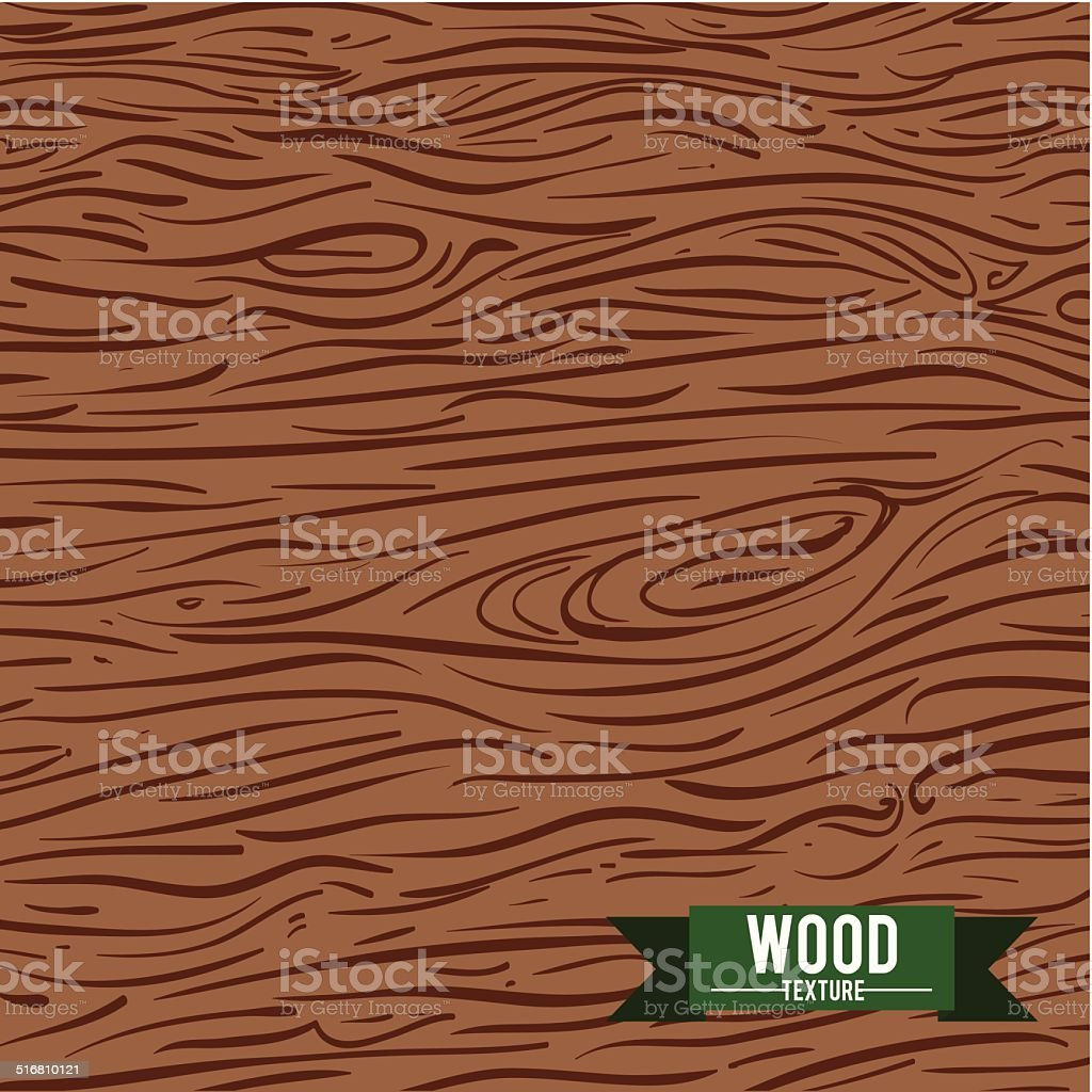 wood design vector art illustration