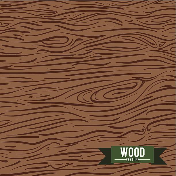wood design vector art illustration