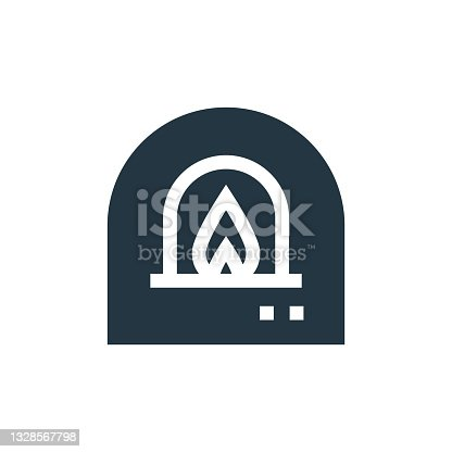 istock wood fired oven icon. Glyph wood fired oven icon for website design and mobile, app development, print. wood fired oven icon from filled bakery collection isolated on white background.. 1328567798