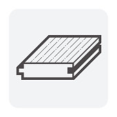 Wood floor vector icon design for interior architectural design work.