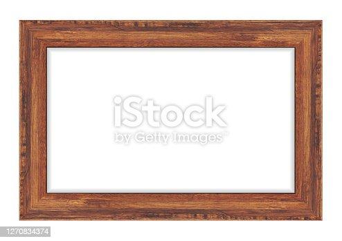 istock Wood frame isolated on white background. Vector illustration eps 10 1270834374