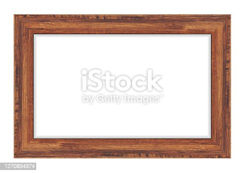 Wood frame isolated on white background. Vector illustration eps 10