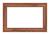 istock Wood frame isolated on white background. Vector illustration eps 10 1270834374