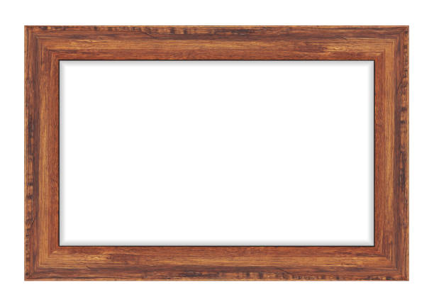 Wood frame isolated on white background. Vector illustration eps 10 Wood frame isolated on white background. Vector illustration eps 10 frame border stock illustrations