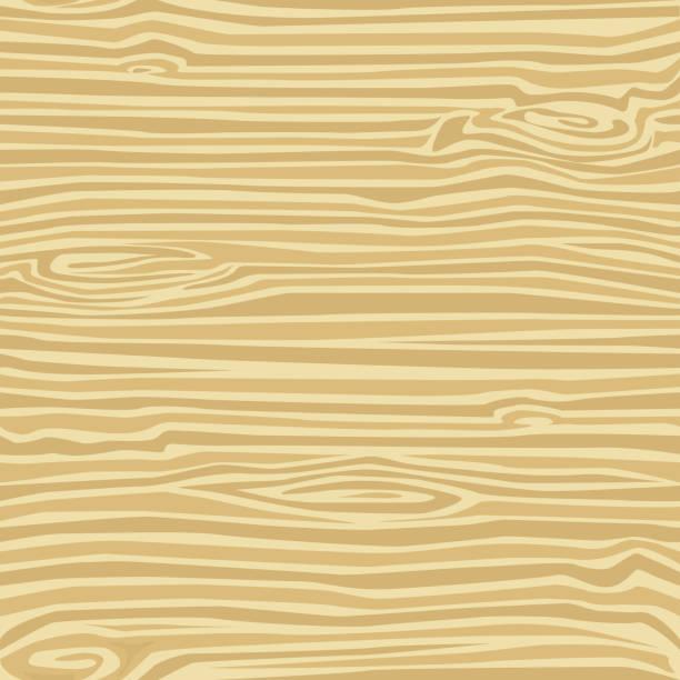 Wood Grain, Light, Horizontal and Vertical Seamless Pattern vector art illustration