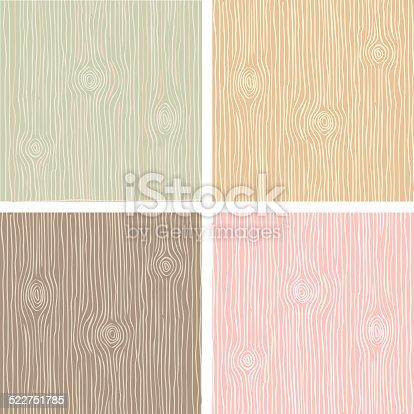istock Wood grain texture in vintage color 522751785