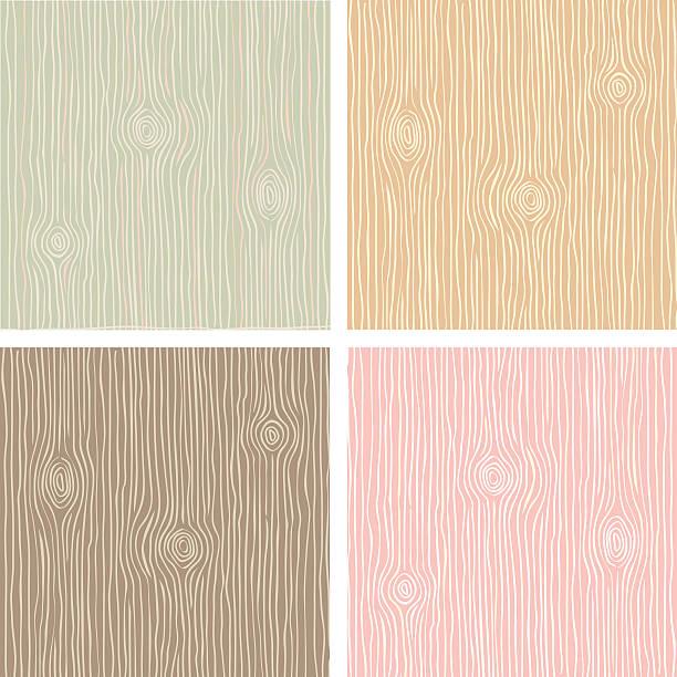 ilustrações, clipart, desenhos animados e ícones de textura de grãos de madeira vintage colorido - textura de madeira