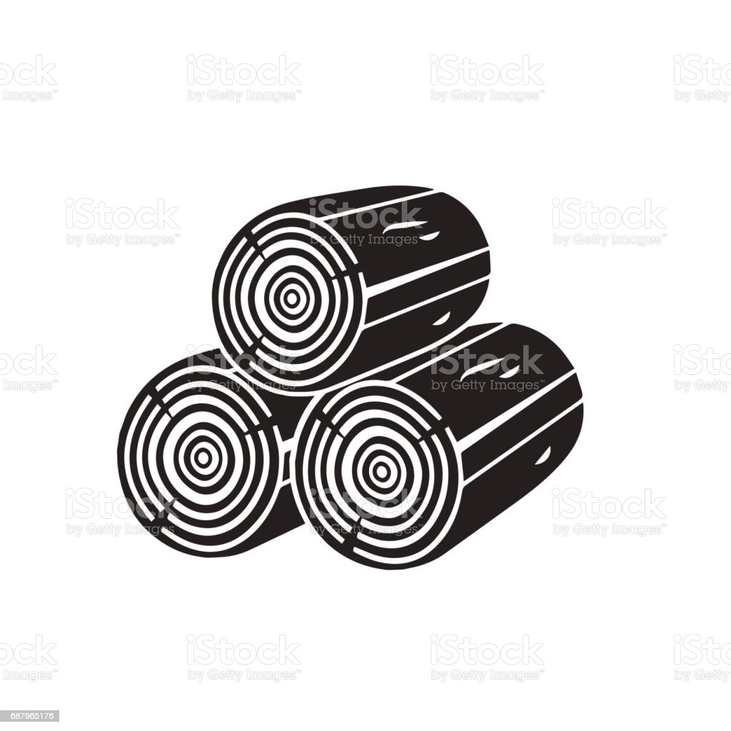 wood icon isolated on white background vector art stock vector art