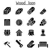 Wood icon set
