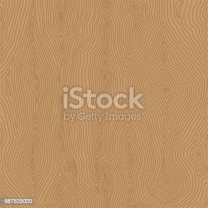 Vector Illustration with a Wood Pattern Seamless