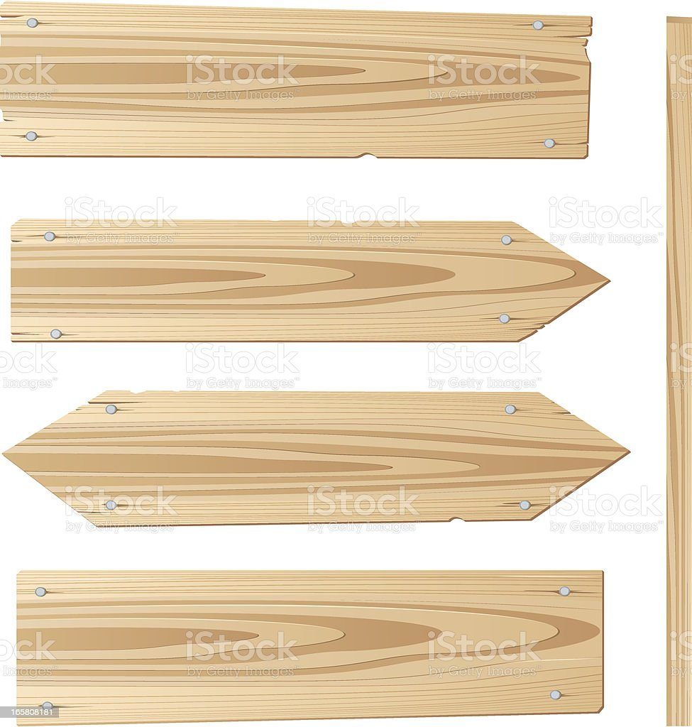 Wood planks against a white background vector art illustration
