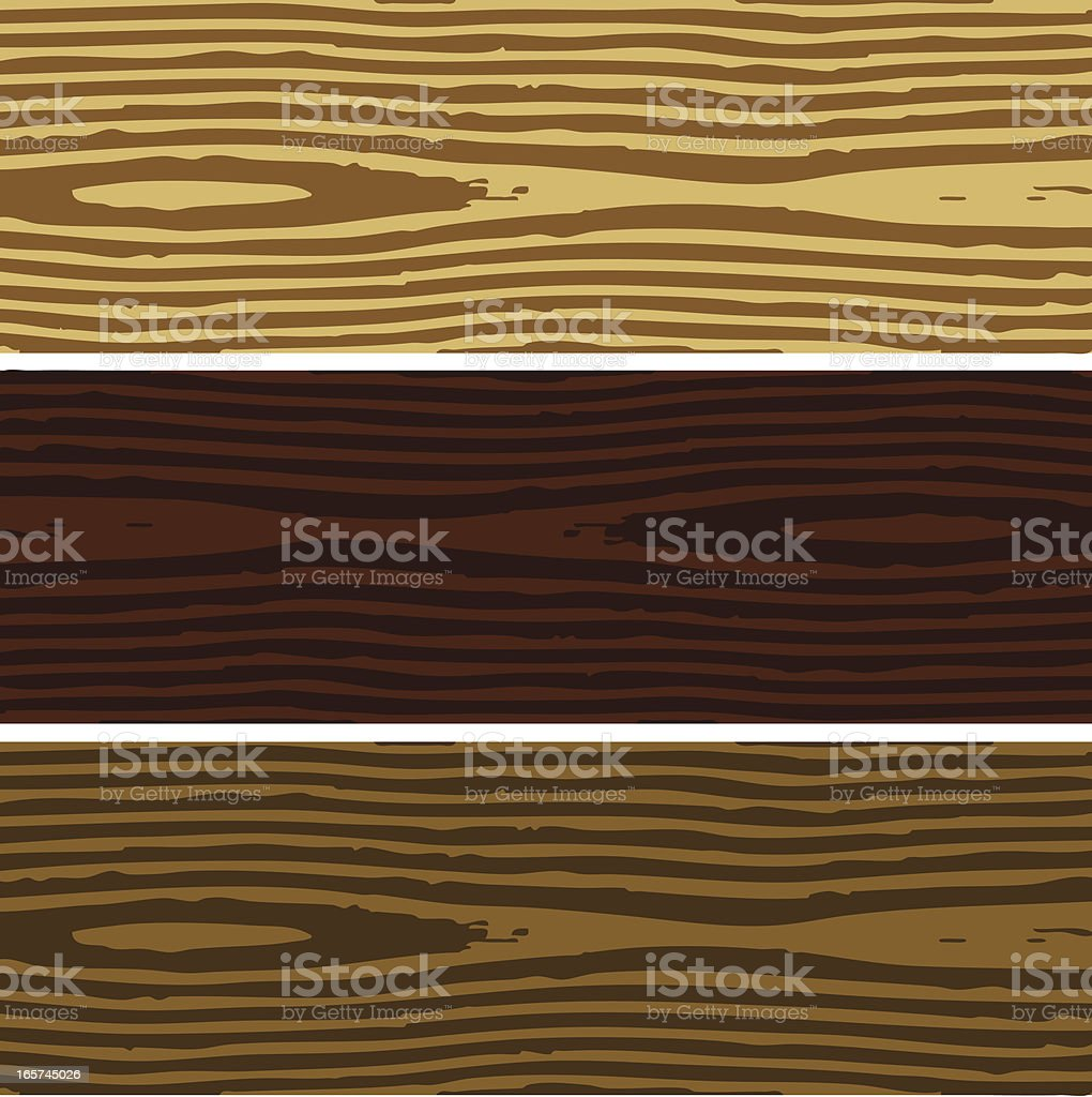 Wood planks in three different shades laying side by side royalty-free stock vector art