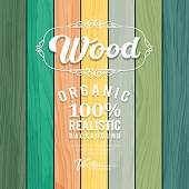 Wood realistic colorful texture design background, vector illustration