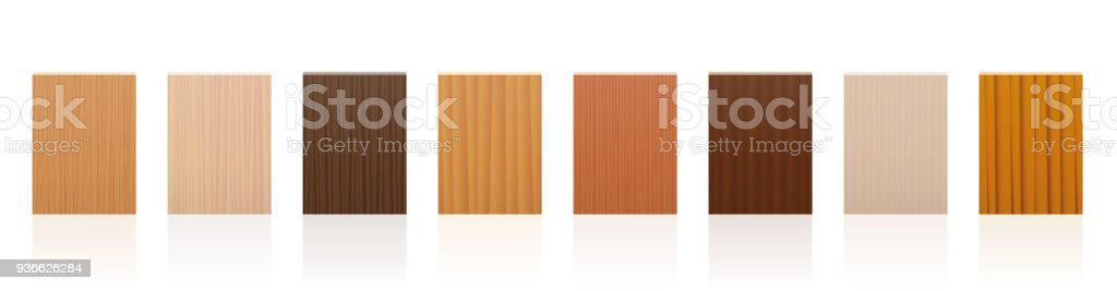 ae6cc59297376 Placa de madeira conjunto com diferentes cores, esmaltes, texturas de