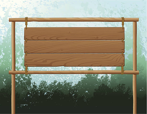 Wood Sign Background This file is layered and ready for editing. woodland stock illustrations