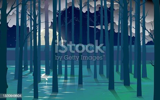istock wood table neon light 1320649504