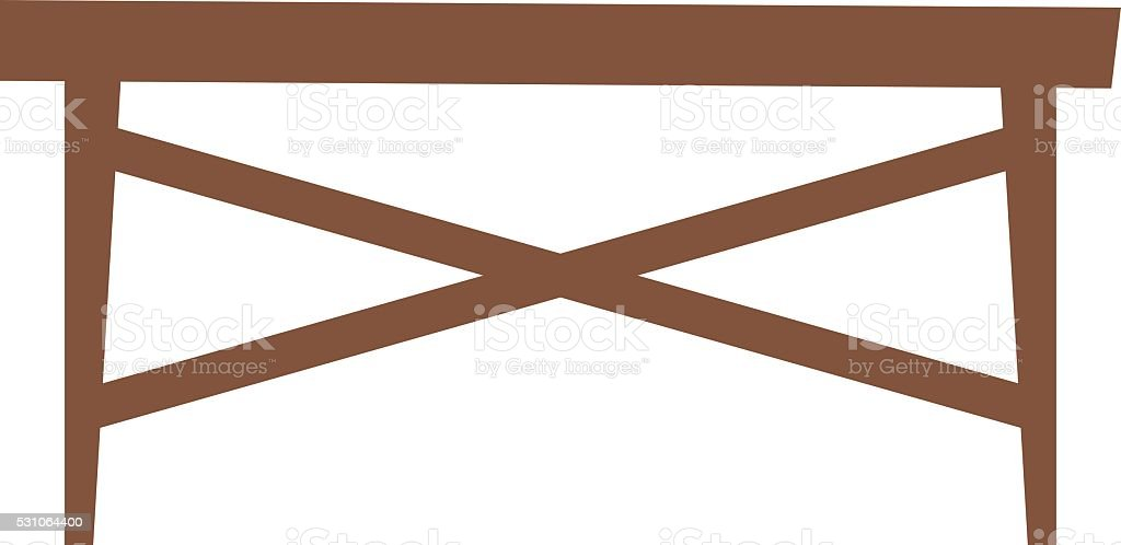 Wood table vector illustration vector art illustration