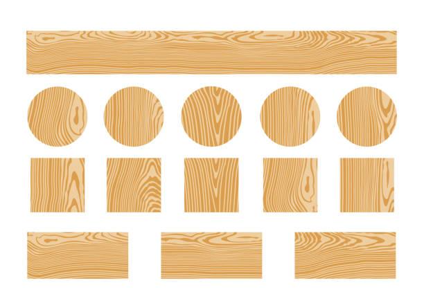 Wood texture. Isolated wood on white background EPS 10. Vector illustration wood grain stock illustrations