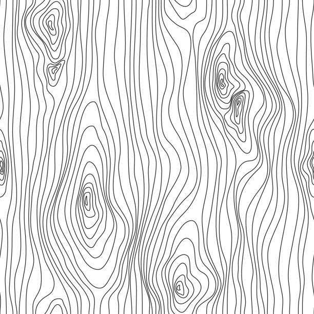 Wood Texture Seamless Sketch. Grain cover surface. Wooden fibers. Vector background Wood Texture Seamless Sketch. Grain cover surface. Wooden fibers. Vector background natural pattern stock illustrations
