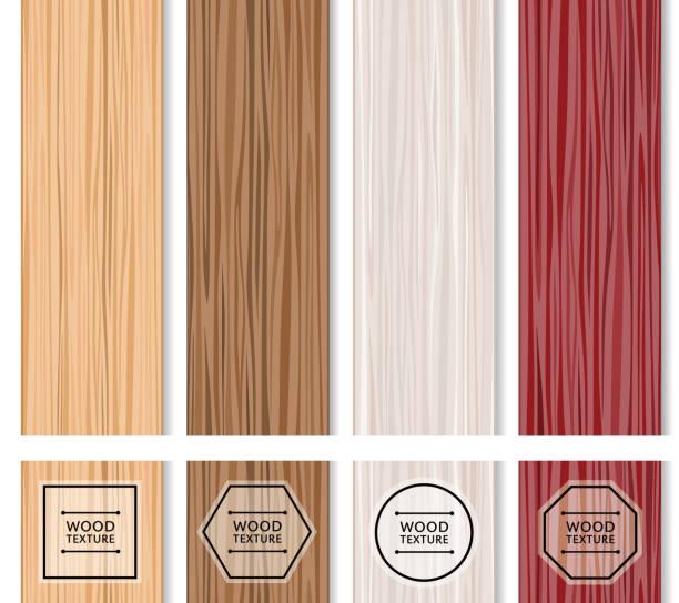 zestaw tekstur drewna. - drewno tworzywo stock illustrations
