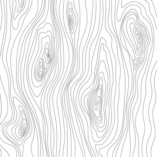 ilustrações, clipart, desenhos animados e ícones de esboço de textura de madeira. superfície de cobertura do grão. fibras de madeira. de fundo vector - textura de madeira