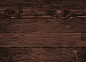 Wood texture, vector Eps10 illustration. Natural Dark Wooden Background