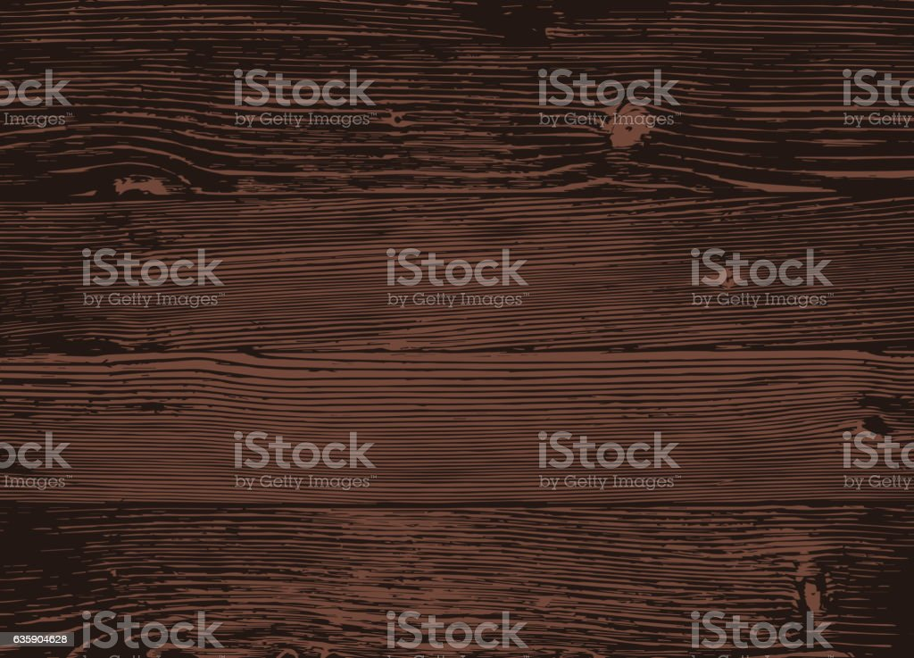 Wood texture, vector Eps10 illustration. Natural Dark Wooden Background. ベクターアートイラスト