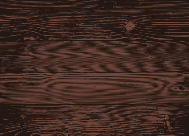 wood texture, vector eps10 illustration. natural dark wooden background. - wood texture stock illustrations