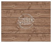 Background of realistic wooden planks. Tricolor, simple, usable design. The color of aged pine