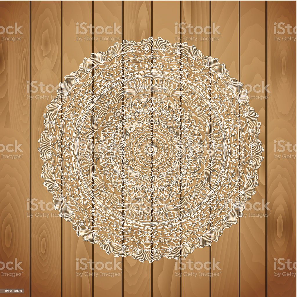 wood texture with a lace cloth royalty-free wood texture with a lace cloth stock vector art & more images of backgrounds