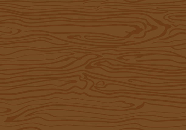 Wood Textured Background With Lines Vector Art Illustration