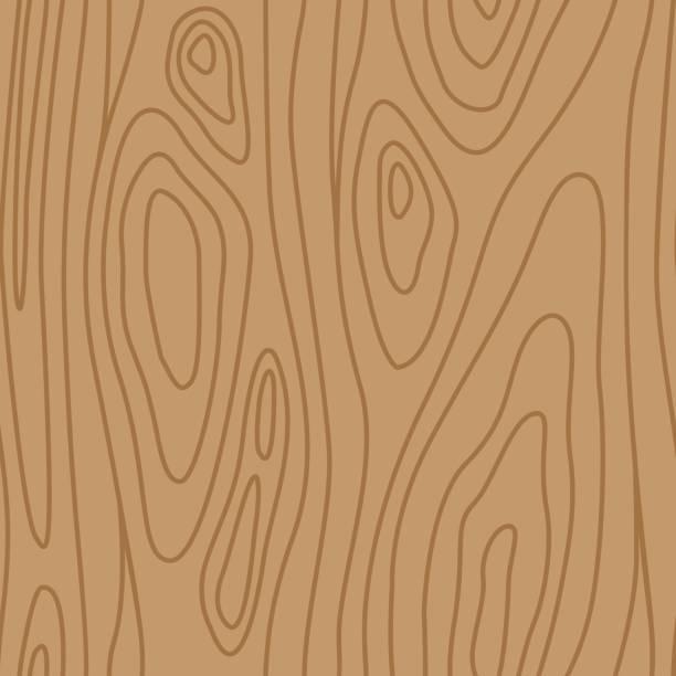 ilustrações, clipart, desenhos animados e ícones de madeira nogueira pinho carvalho seamless pattern marrom - textura de madeira