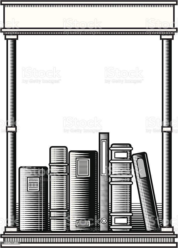 Woodcut Bookplate royalty-free woodcut bookplate stock vector art & more images of black color