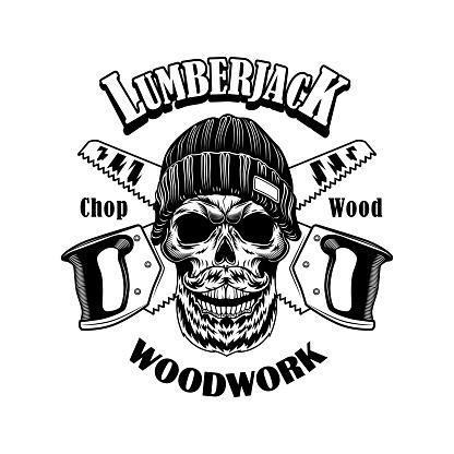 Woodcutter vector illustration