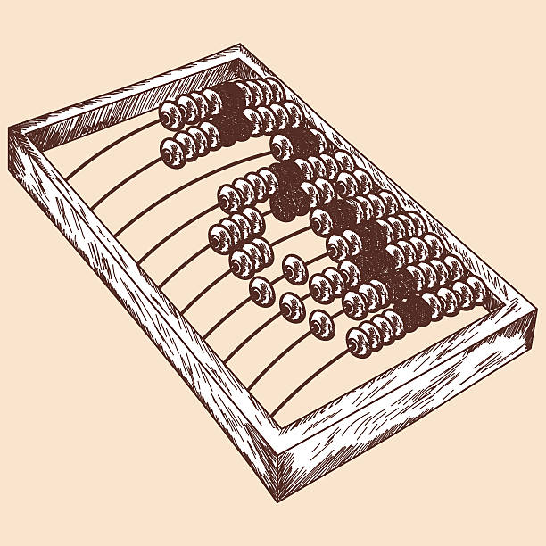 bildbanksillustrationer, clip art samt tecknat material och ikoner med wooden abacus sketch - abakus