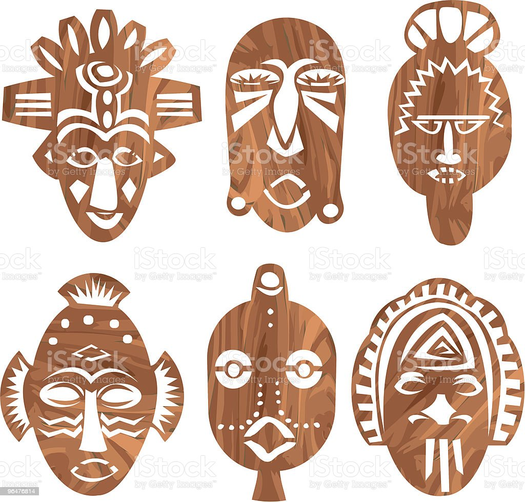Wooden African Masks royalty-free wooden african masks stock vector art & more images of african culture