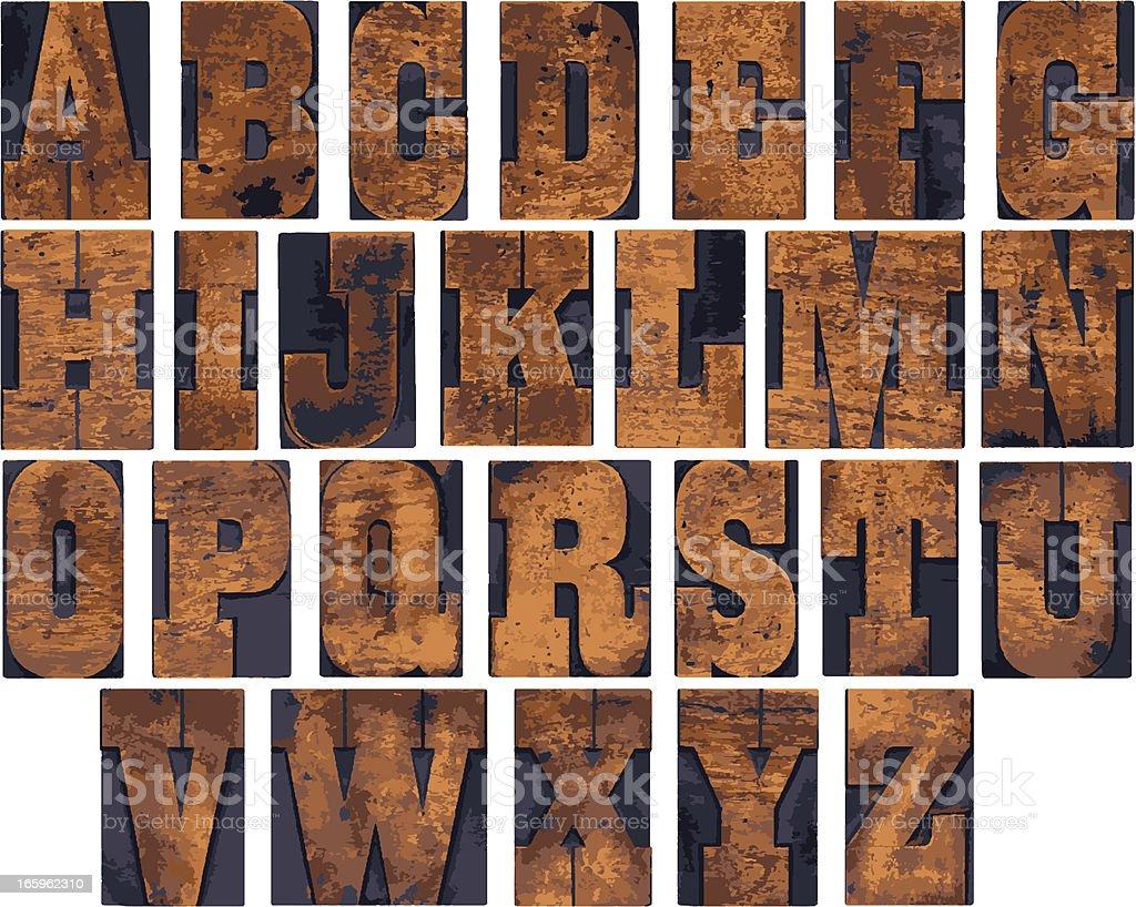 Wooden alphabet royalty-free wooden alphabet stock vector art & more images of alphabet