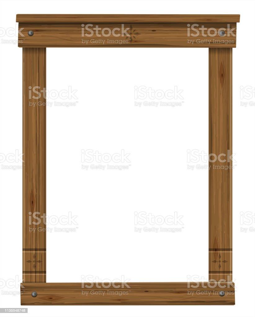 Cadre De Fenêtre Ou De Porte Antique En Bois Vecteurs Libres De