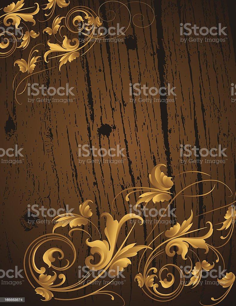Wooden Arabesque royalty-free wooden arabesque stock vector art & more images of art deco