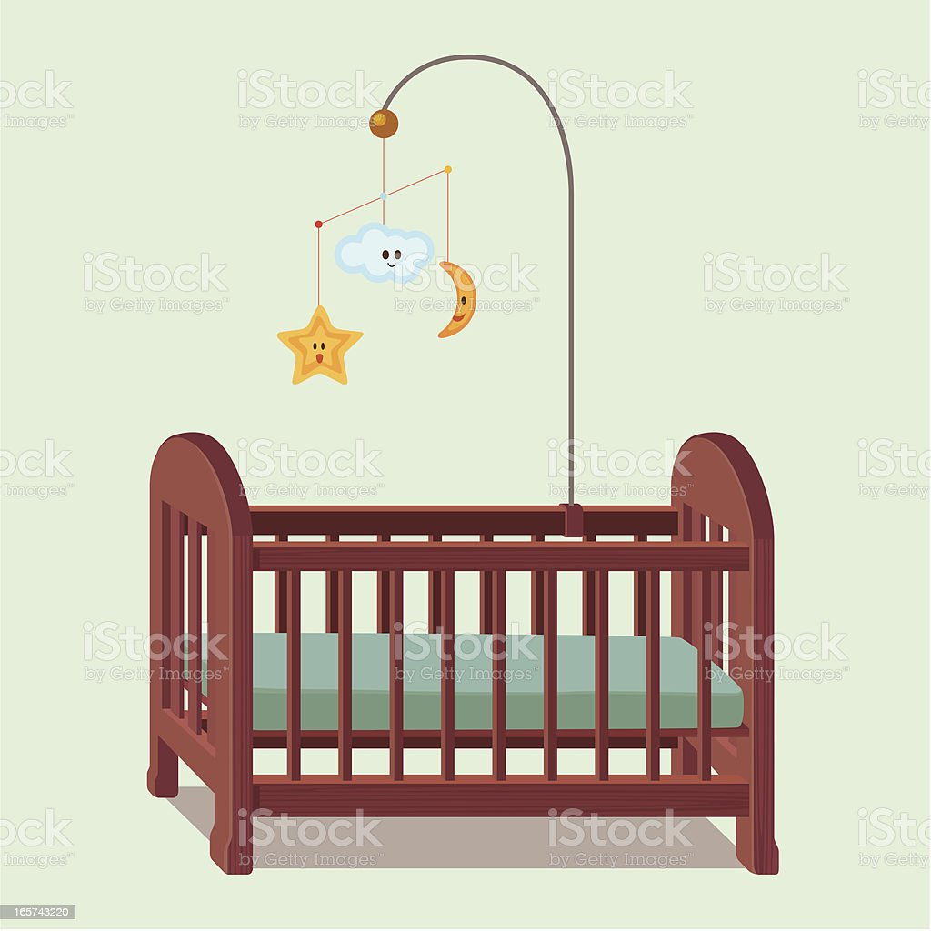 royalty free baby crib clip art vector images illustrations istock rh istockphoto com baby girl crib clipart clipart silhoutte baby crib