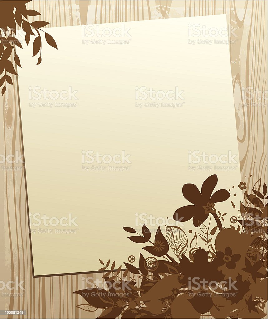 Wooden background royalty-free stock vector art